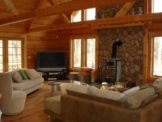 cabin retreat homes nestled for arrowhead pocono sale pet cabins mountains lake log woods at the rental in rentals poconos cozy friendly mountain